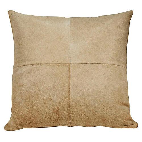 Four-Panel Hide Pillow, Beige