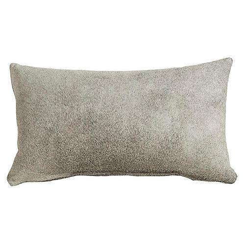 Full-Panel 13x22 Hide Pillow, Gray