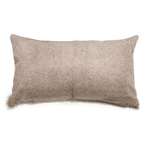 Two-Panel 13x22 Hide Pillow, Gray