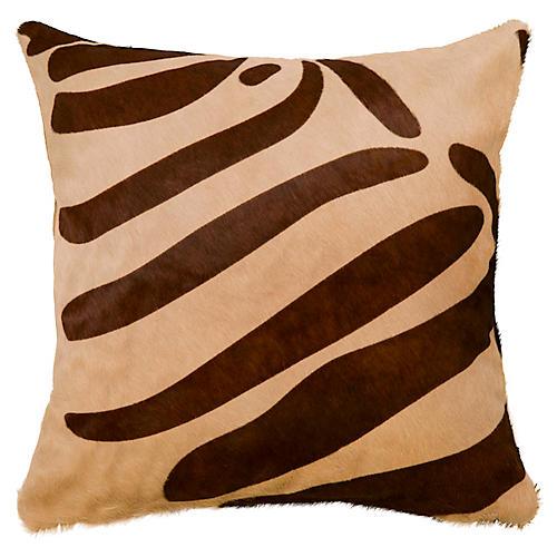 Zebra Pillow, Brown/Beige