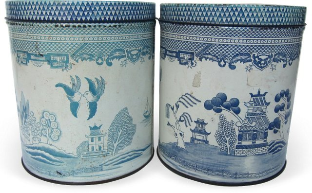 Tin Canisters, Pair
