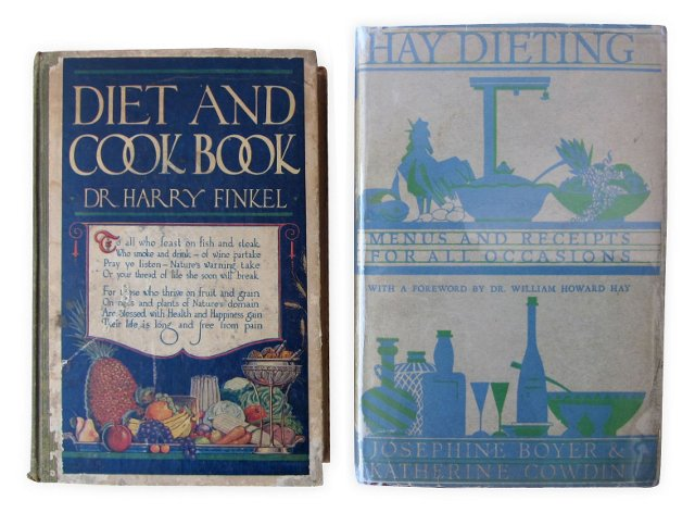 1920s Dieting Books, Set of 2