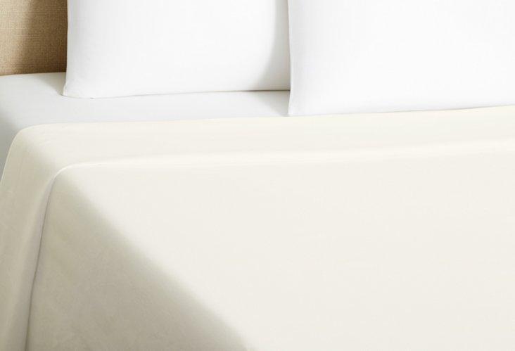 Paola Italian Linen Flat Sheet, Ivory