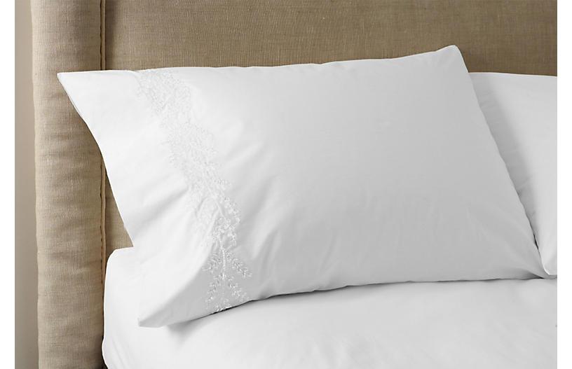 S/2 Willow Pillowcases, White