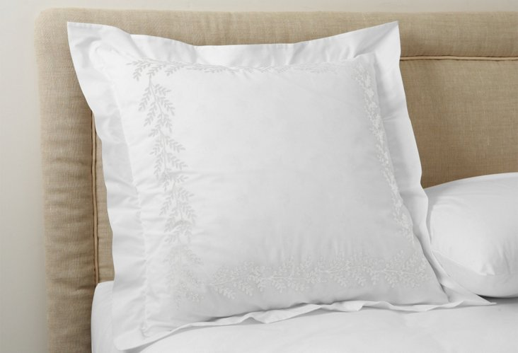 Willow Euro Sham, White