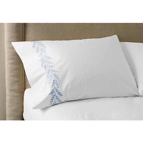 S/2 Willow Pillowcases, Blue