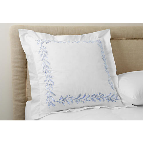 Willow Euro Sham, Blue