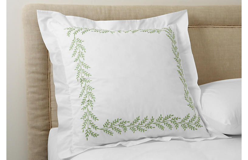 Willow Euro Sham, Green