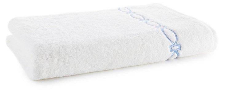 Maxwell Bath Sheet, White/Blue