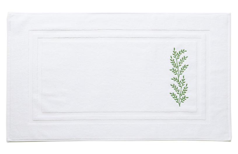 Willow Bath Mat, Green