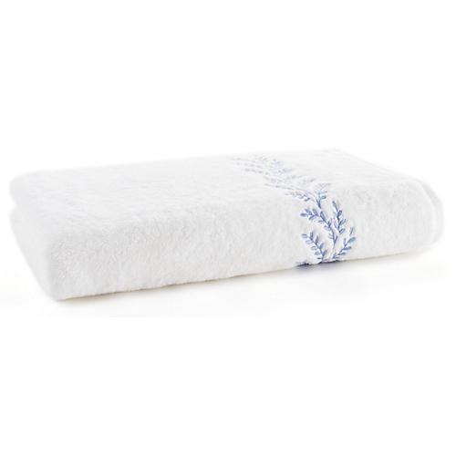 Willow Bath Sheet, Blue