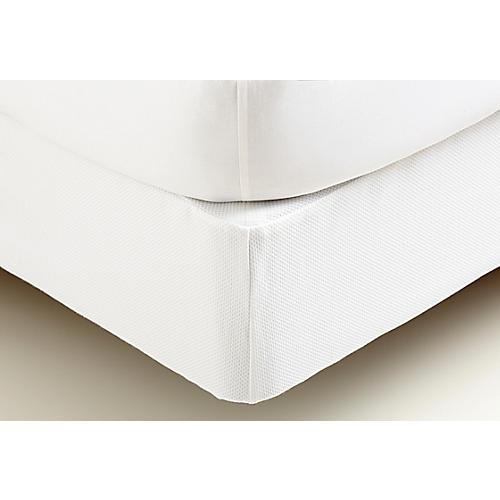 Box Spring Cover, White