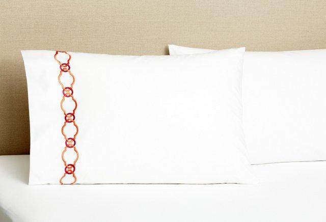 S/2 Roman Key Pillowcases, Honeysuckle