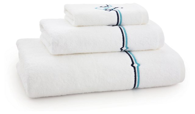 3-Pc Square Knot Towel Set, Navy