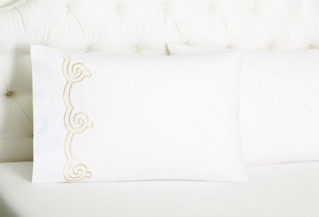 Set of 2 Serenity Pillowcases, Seashell