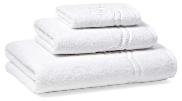 3-Pc Serenity Towel Set, White