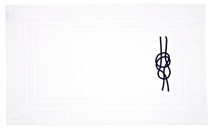 Nautical Knot Bath Mat, Navy