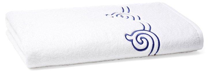 Serenity Bath Sheet, Blue Ink