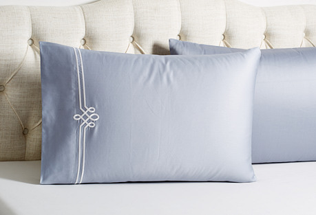 S/2 Loops Pillowcases, Gray/White