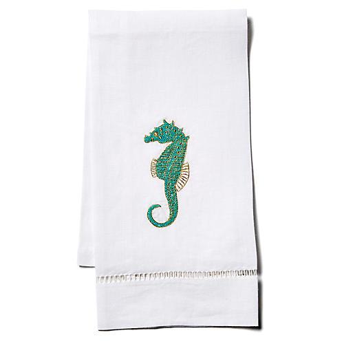 Seahorse Linen Guest Towel