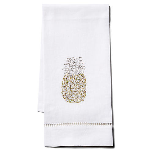 Pineapple Linen Guest Towel