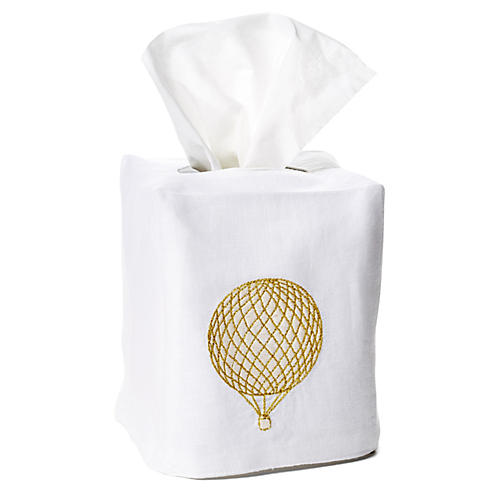 Balloon Linen Tissue Box Cover