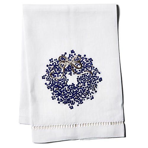 Berry Wreath Linen Guest Towel