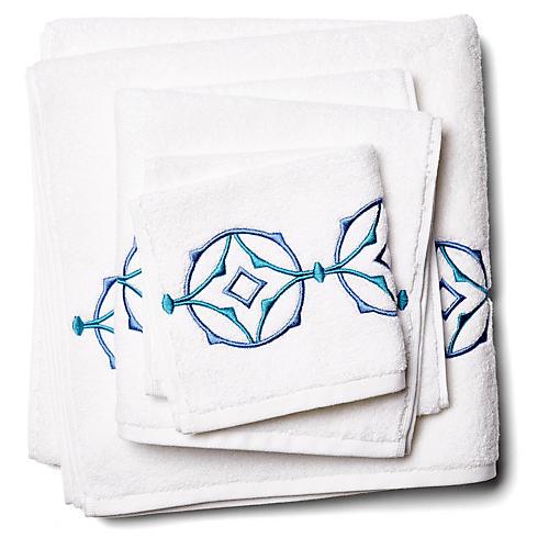 3-Pc Tropez Towel Set, Turquoise
