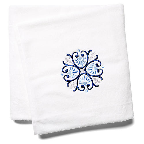 Bogota Bath Sheet, Blue