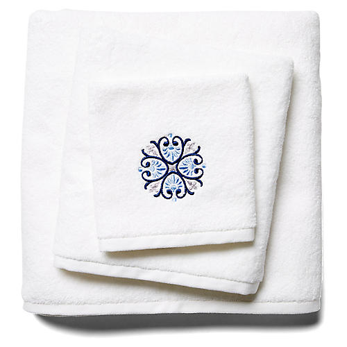 3-Pc Bogota Towel Set, Blue