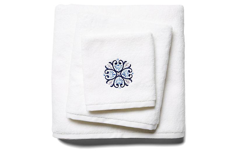 3-Pc Bogota Towel Set, Blue