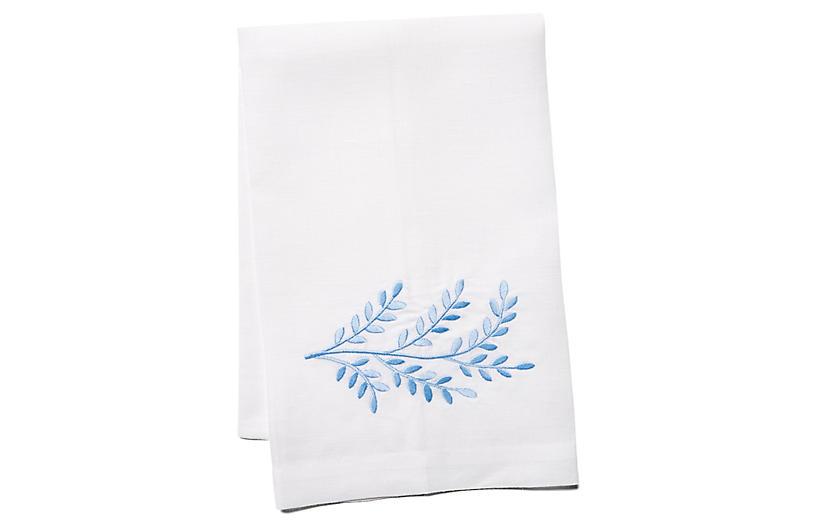 Willow Linen Guest Towel, Blue