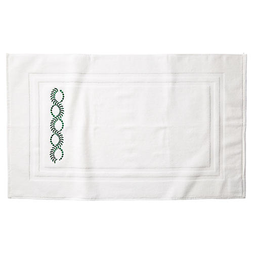 Wheat Bath Mat, White/Green