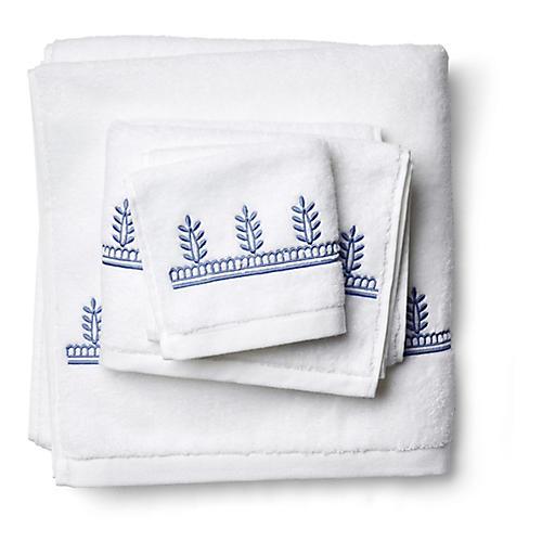 3-Pc Vivaan Towel Set, Jay Blue