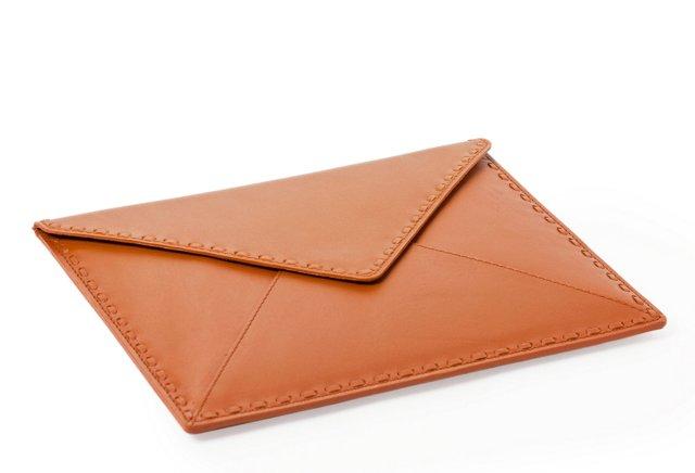 Leather iPad Envelope, Tobacco