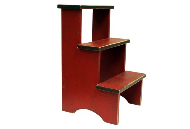 Shaker Stepstool, Barn Red