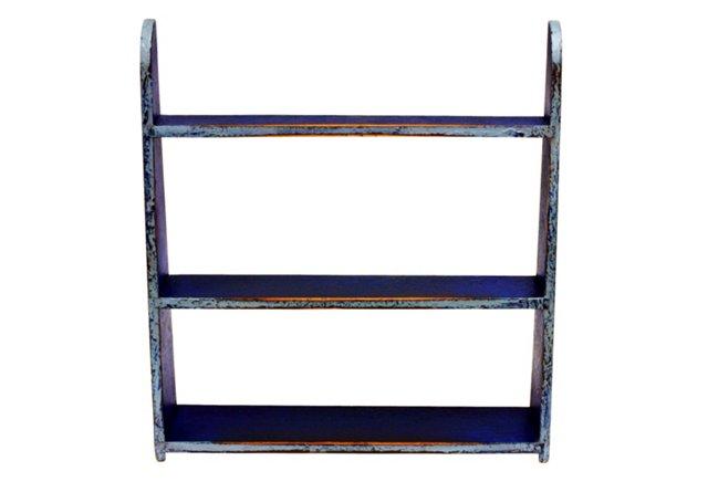Mini Wall Shelf, Old Blue