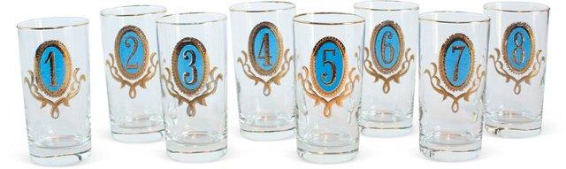 Numero Highball Glasses, Set of 8