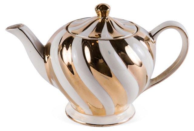 Gold & Cream Teapot