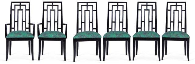 Malachite Dining Chairs, Set of 6