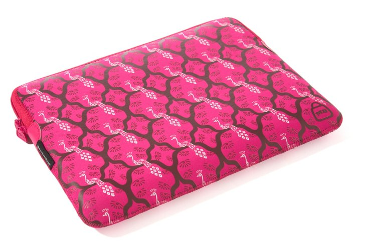 "17"" Printed Laptop Sleeve, Pink Peacock"
