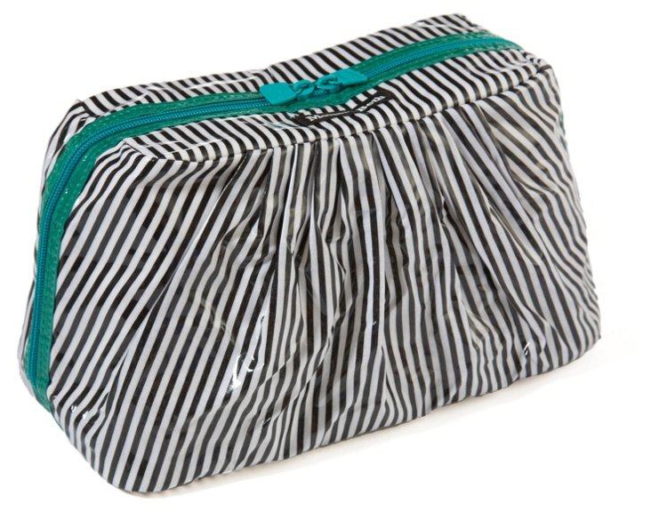 Mini Cosmetic Case, Black/White