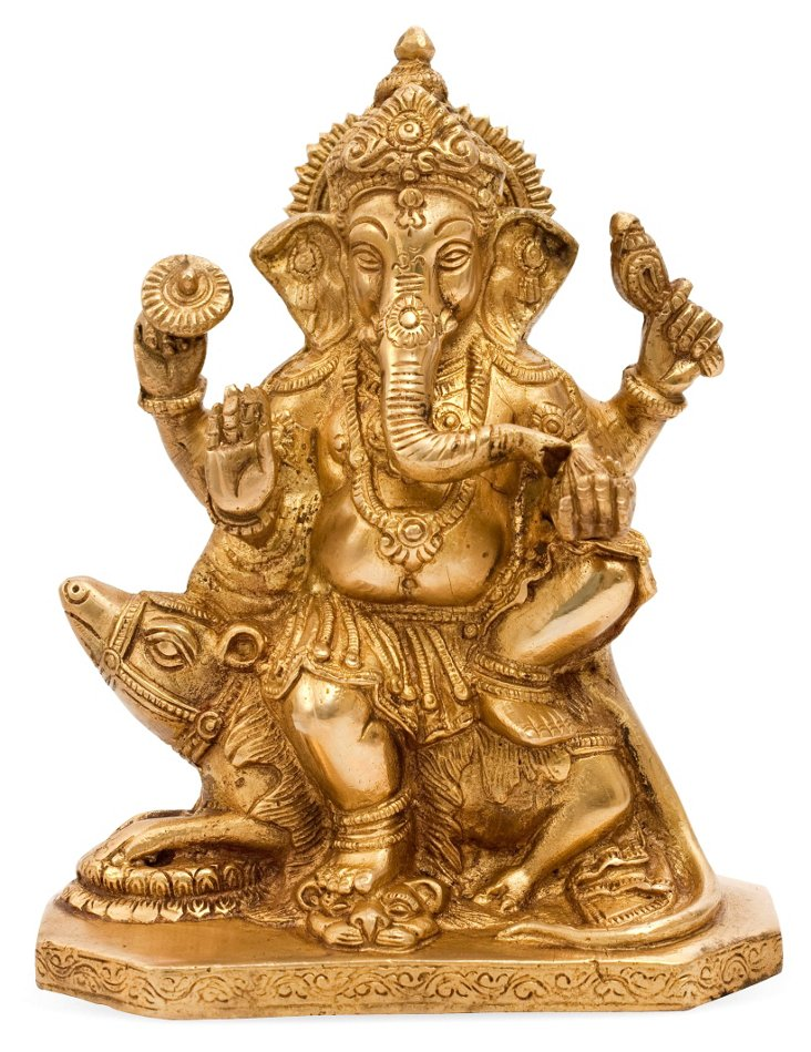 Ganesha Sitting on a Mouse