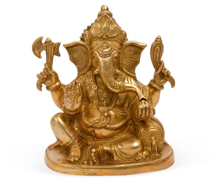 Brass Sitting Ganesha