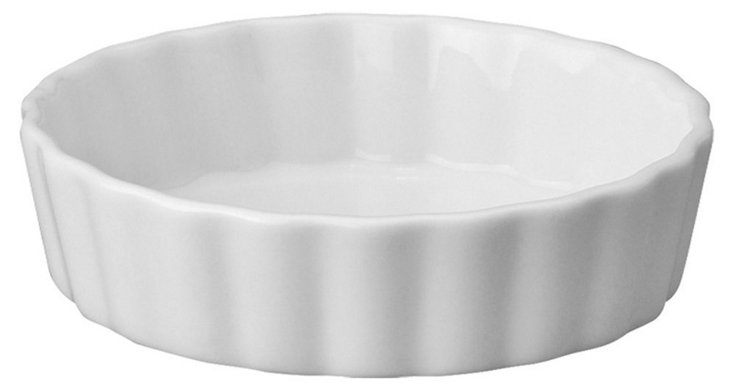 S/4 Round Porcelain Bakers