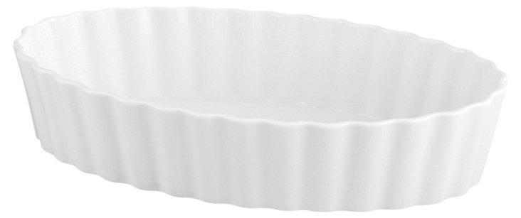 S/6 Oval Porcelain Crème Brulee Bakers