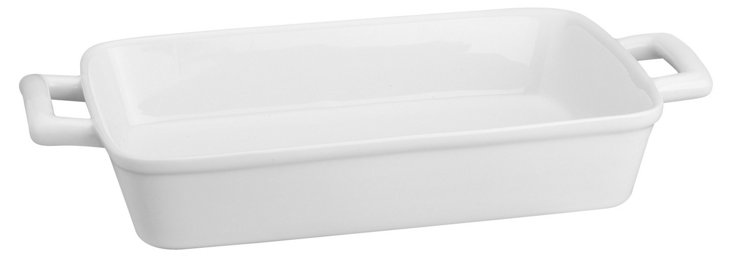Lasagna Pan w/ Handles, White