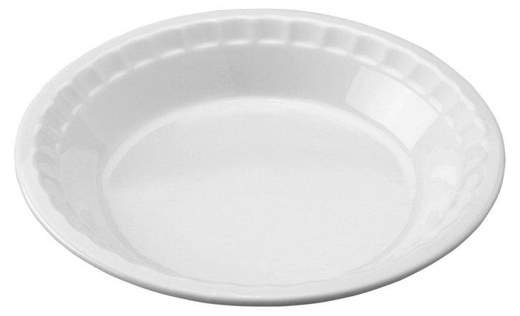 """Porcelain Pie Plate, 10.5"""""""