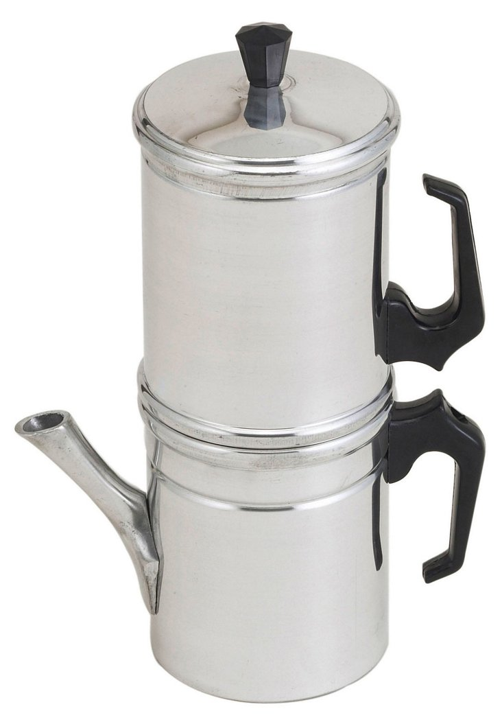 6-Cup Neapolitan Coffee Maker, Silver