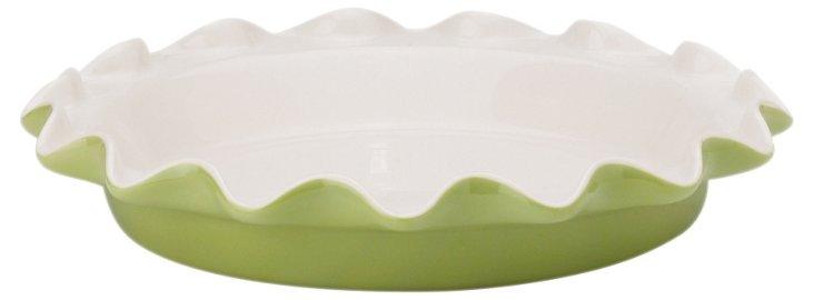 Ceramic Pie Plate, Sage